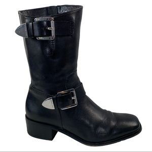 Michael Kors Leather Robin Boot Biker Moto Boots
